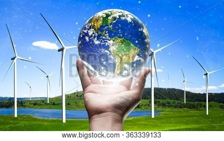 Concept Of Sustainability By Alternative Energy.