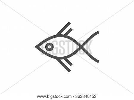 Fish Icon Isolated On White Background From Miscellaneous Collection