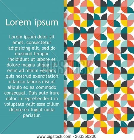 Abstract Seamless Geometrical Pattern With Colorful Sector. Vector Illustration