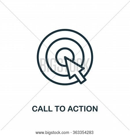 Call To Action Icon. Line Style Simple Element From E-commerce Icons Collection. Pixel Perfect Simpl