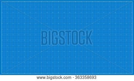 Vector Paper Blueprint Background. Wide Paper For Architectural Drawings.