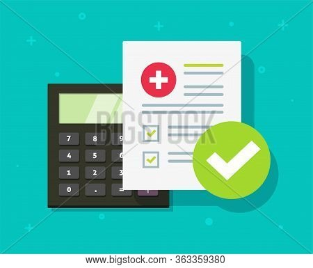 Medical Health Care Insurance Form Calculator Or Medicare Healthcare Document Risk Claim Coverage Ch
