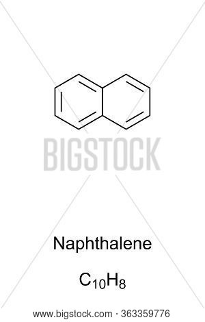 Naphthalene Skeletal Formula And Molecular Structure. The Simplest Polycyclic Aromatic Hydrocarbon,