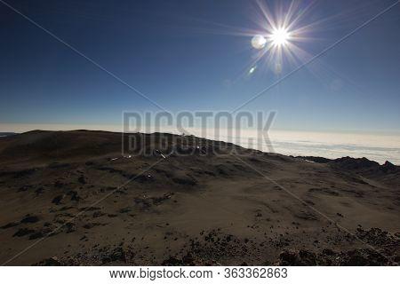 Lunar Landscape On The Mount Kilimanjaro In Tanzania