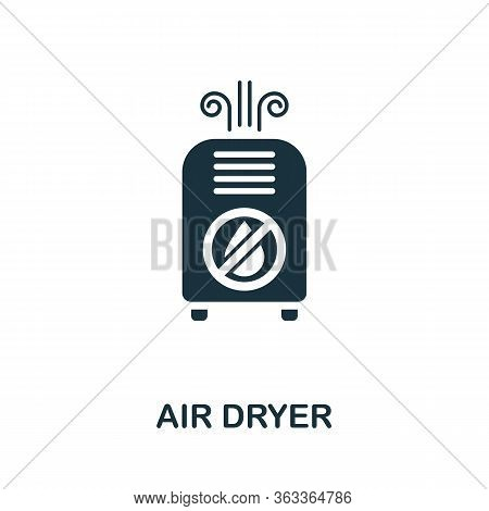 Air Dryer Icon. Simple Illustration From Ventilation Equipment Collection. Creative Air Dryer Icon F