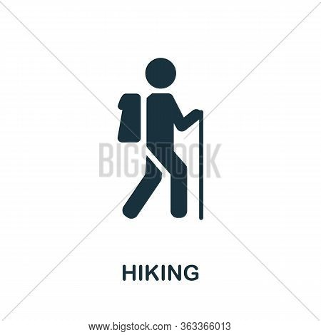 Hiking Icon. Simple Illustration From Vacation Collection. Creative Hiking Icon For Web Design, Temp