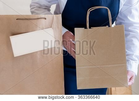 Worker Delivery Service Packing Bag Box Apron Packer