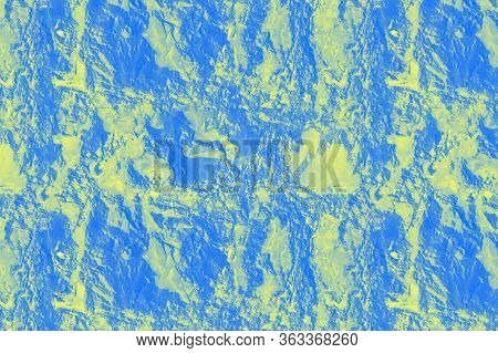 Bright Patchy Blue Yellow Texture Stone Background. Seamless Pattern