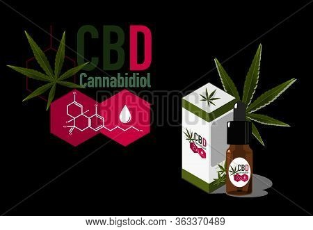 Vector Design Health And Medical Concept Icon Or Logo For  Cbd Cannabinoids Products By Cbd Molecule