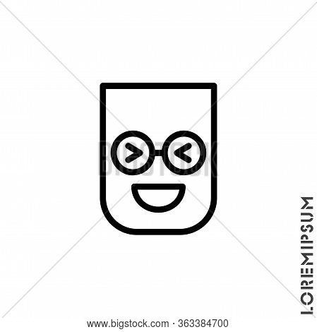 Emoticon Vector Icon On White Background. Vector Emoticon Icon Symbol Sign From Modern User Interfac