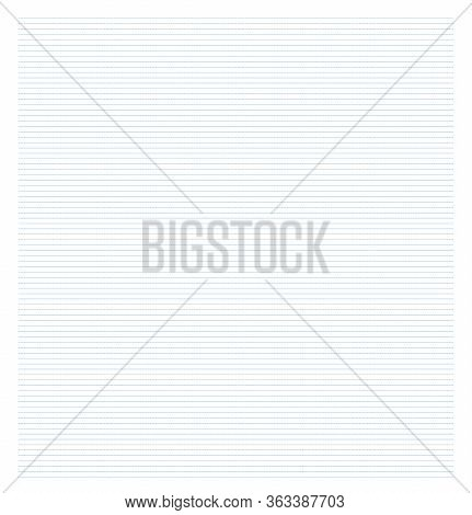 Abstract Dotted Horizontal Line Paper Vector Illustration. Line Dot Background. Education. Engineeri