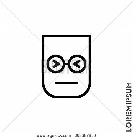 Angry Face Emoji Icon Vector. Sad Face Emoticon Symbol. Linear Style Sign For Mobile Concept And Web