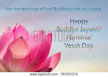 Congratulations To The Buddhist Celebration Of Buddha's Birthday, Called Vesak Day, Buddhist Lent, T
