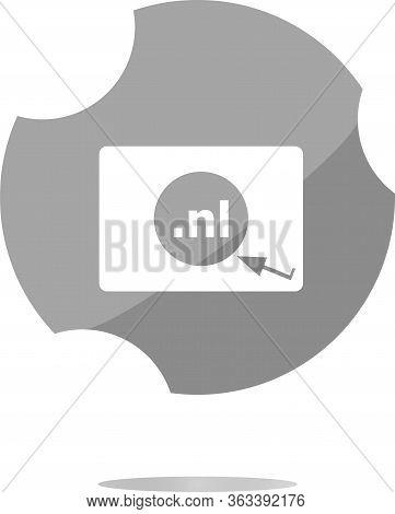 Domain Nl Sign Icon. Top-level Internet Domain Symbol
