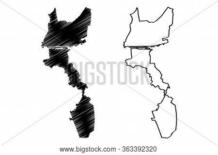 Orleans City (french Republic, France) Map Vector Illustration, Scribble Sketch City Of Orleans Map