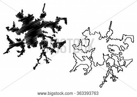 Perugia City (italian Republic, Italy, Umbria) Map Vector Illustration, Scribble Sketch City Of Peru
