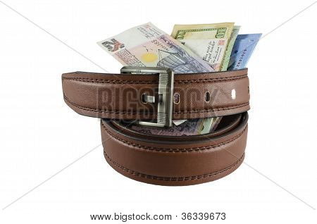 banknote in the belt