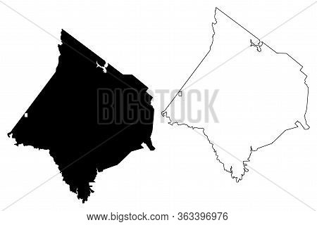 Newton County, Georgia (u.s. County, United States Of America,usa, U.s., Us) Map Vector Illustration