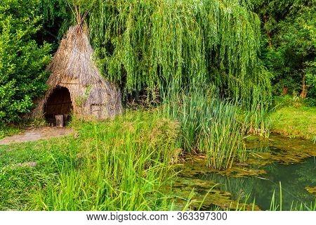 A Hut In Forest, Old Vintage Hut As A First People House