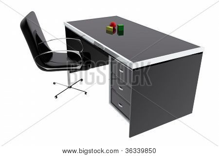 Chair And Desk Table Office