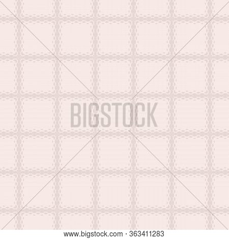 Vector Geometric Seamless Pattern With Fading Rhombuses, Diamonds, Net, Grid, Repeat Tiles. Halftone