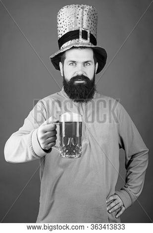 Irish Pub. Drinking Beer Part Celebration. Bar Seasonal Holiday Menu. Green Beer Mug. Cheers. Alcoho