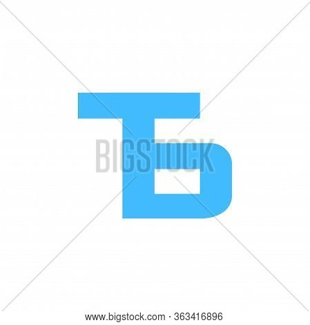 Letter Tb Simple Geometric Line Symbol Logo Vector