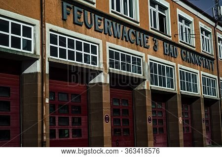 Stuttgart,germany - April 01,2020:bad Cannstatt This Is The Old Building Of Fire Station 3,which Is
