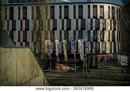 Stuttgart,germany - April 01,2020:bad Cannstatt This The Modern Hotel Hilton Garden Inn,which Is In