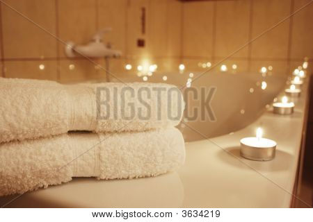 Bathroom And Candles