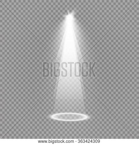 Light Sources, Concert Lighting, Spotlights. Concert Spotlight With Beam, Illuminated Spotlights For