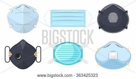 Medical Masks, Coronravirus Antiviral Hygiene, Vector Illustration