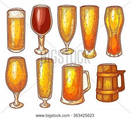 Beer Glasses, Pint, Mug, Craft Beer Brewery Sketch