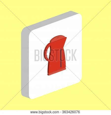 Electric Kettle Simple Vector Icon. Illustration Symbol Design Template For Web Mobile Ui Element. P