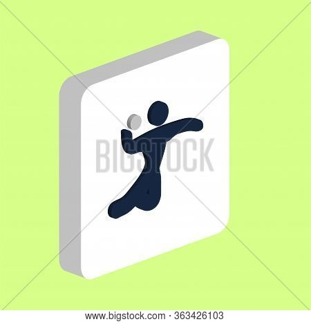 Volleyball, Sport Simple Vector Icon. Illustration Symbol Design Template For Web Mobile Ui Element.