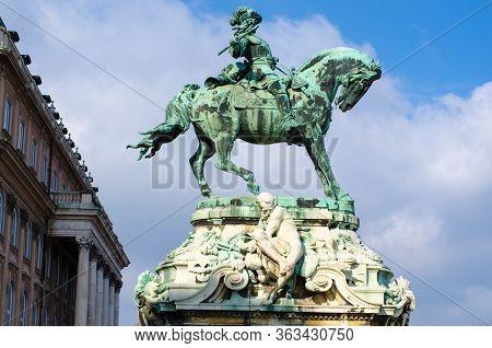 Equestrian Statue Of Prince Savoyai Eugen. Budapest, Hungary.
