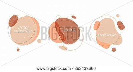 Vector Set Of Abstract Background In Minimal Style.background With Copy Space For Text.design Templa