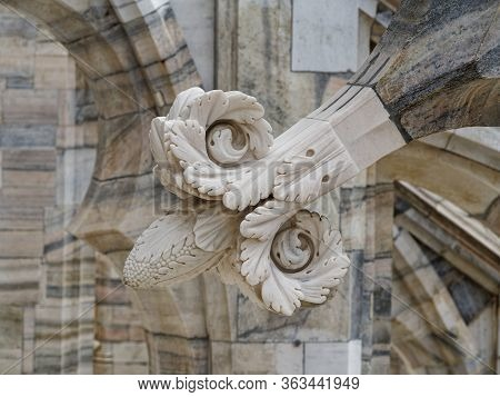Stunningly Beautiful And Diverse Marble Decorations Of The Duomo Of Milan.