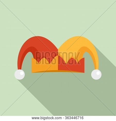Jester Hat Icon. Flat Illustration Of Jester Hat Vector Icon For Web Design