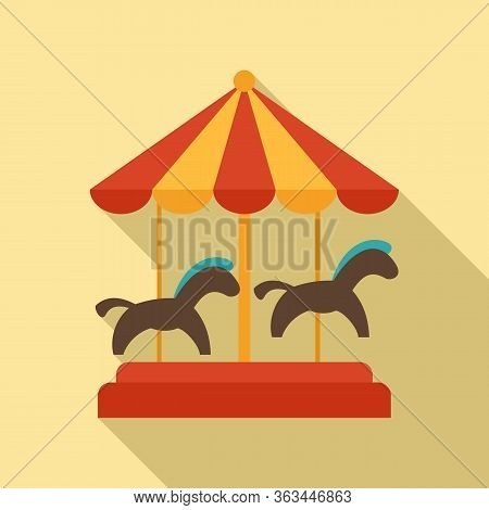 Carousel Icon. Flat Illustration Of Carousel Vector Icon For Web Design