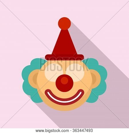 Circus Clown Icon. Flat Illustration Of Circus Clown Vector Icon For Web Design
