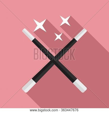 Magic Wands Icon. Flat Illustration Of Magic Wands Vector Icon For Web Design