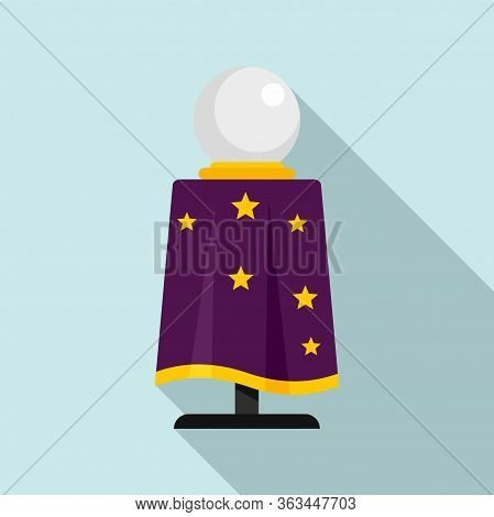 Magician Ball Icon. Flat Illustration Of Magician Ball Vector Icon For Web Design