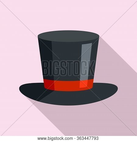 Magician Hat Icon. Flat Illustration Of Magician Hat Vector Icon For Web Design
