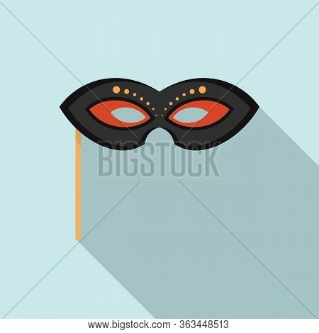 Masquerade Mask Icon. Flat Illustration Of Masquerade Mask Vector Icon For Web Design