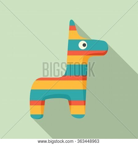 Pinata Horse Icon. Flat Illustration Of Pinata Horse Vector Icon For Web Design