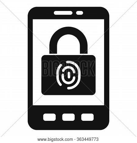 Smartphone Biometric Authentication Icon. Simple Illustration Of Smartphone Biometric Authentication