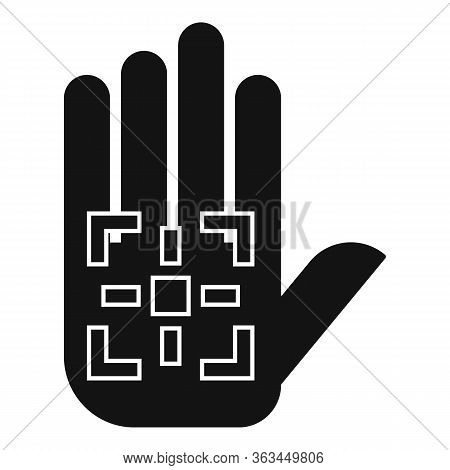 Palm Biometric Authentication Icon. Simple Illustration Of Palm Biometric Authentication Vector Icon