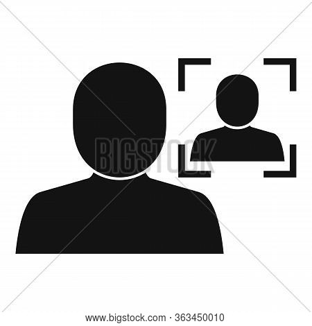 Biometric Face Authentication Icon. Simple Illustration Of Biometric Face Authentication Vector Icon