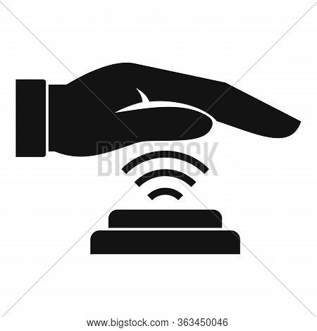 Palm Scan Authentication Icon. Simple Illustration Of Palm Scan Authentication Vector Icon For Web D